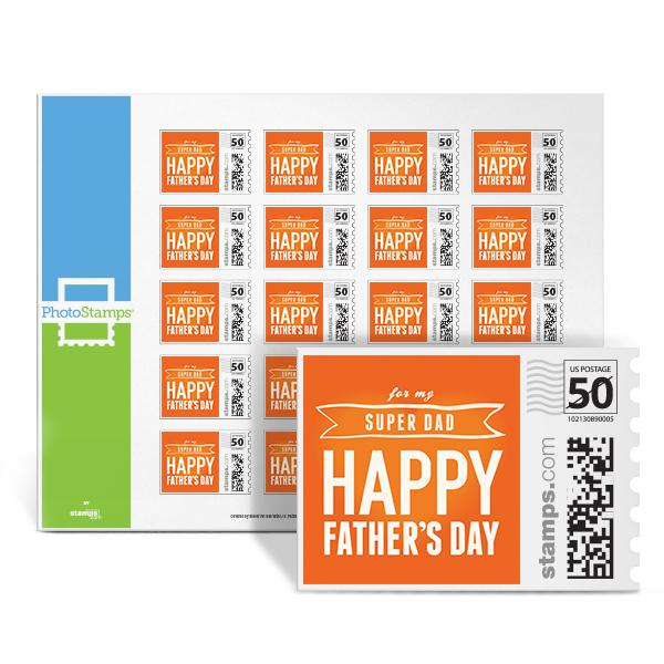 For My Super Dad Photo Stamps