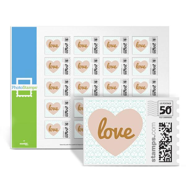 Golden Inscription - Love PhotoStamps