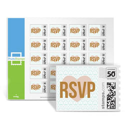 Golden Inscription - RSVP PhotoStamps
