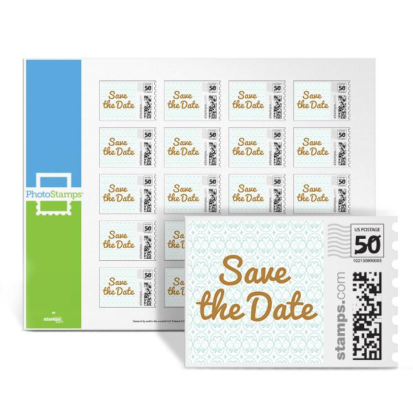 Golden Inscription - Save the Date PhotoStamps