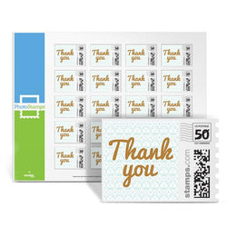 Golden Inscription - Thank You PhotoStamps