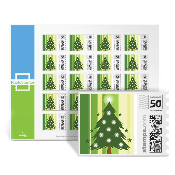 Green Christmas Tree PhotoStamps