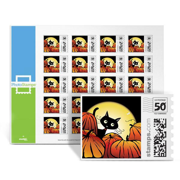 Halloween Kitty PhotoStamps