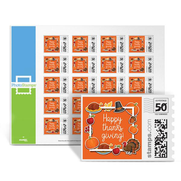 Happy Thanksgiving PhotoStamps