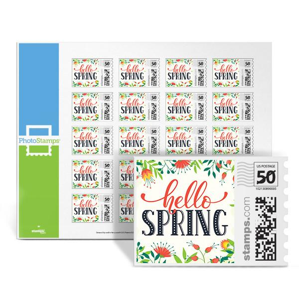 Hello Spring PhotoStamps