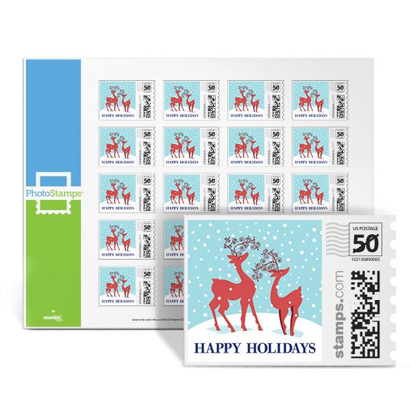 Holiday Reindeers PhotoStamps