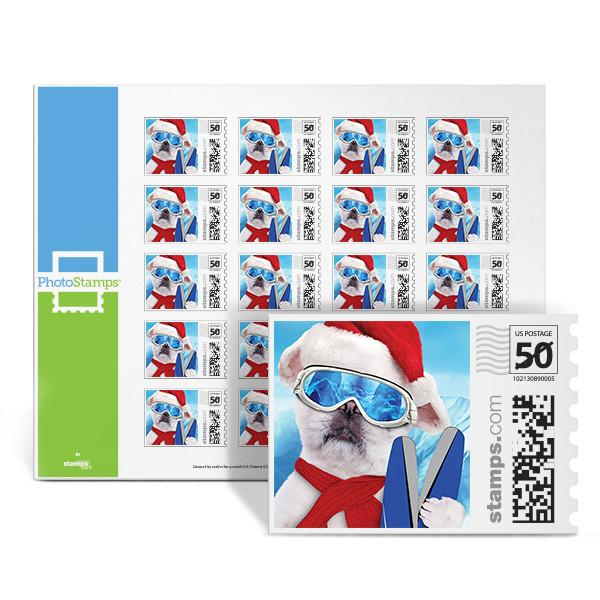 Hot Dog Skier PhotoStamps