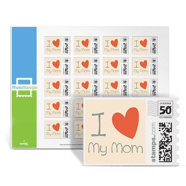 I Heart My Mom PhotoStamps