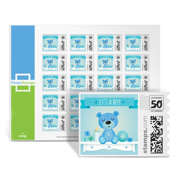 It's a Bear! - Boy PhotoStamps