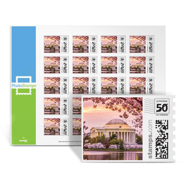 Jefferson Cherry Blossoms PhotoStamps
