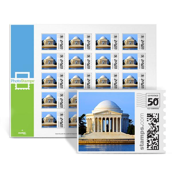 Jefferson Memorial PhotoStamps