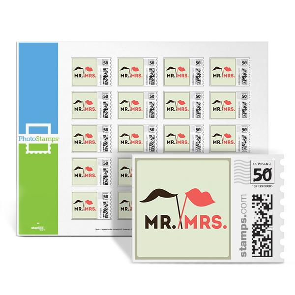 Lips - Mr. & Mrs. PhotoStamps