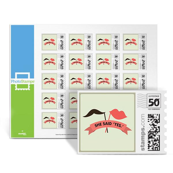 Lips - Yes! PhotoStamps