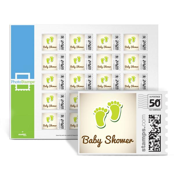 Little Feet Shower - Green PhotoStamps