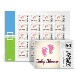 Little Feet Shower - Pink PhotoStamps