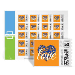 Love Heart - Orange PhotoStamps