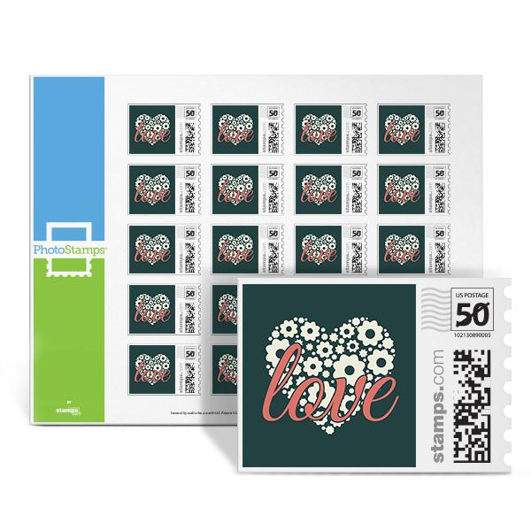 Love Heart - Pink PhotoStamps