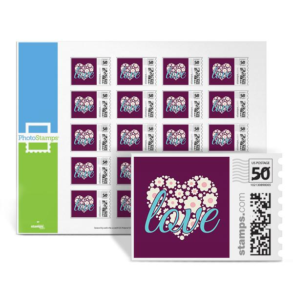 Love Heart - Purple PhotoStamps