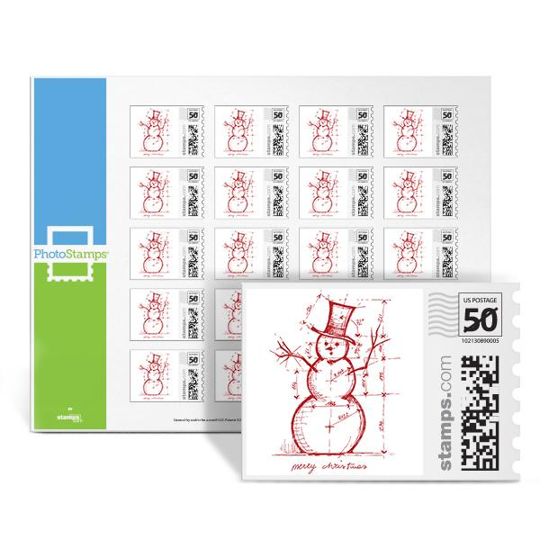 Merry Snowman Plans PhotoStamps