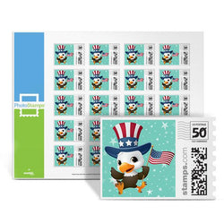 Patriotic Baby Eagle PhotoStamps