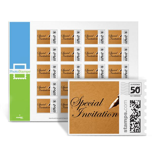 Pen And Paper Special Invite PhotoStamps