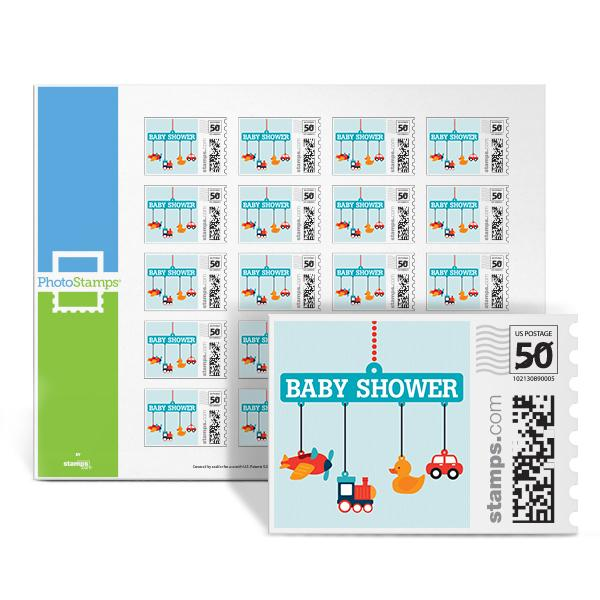 Planes, Trains & Autos - Shower PhotoStamps