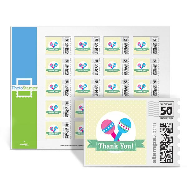 Rattle - Thank You PhotoStamps