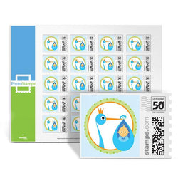 Royal Stork - Blue PhotoStamps