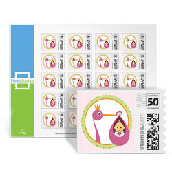 Royal Stork - Pink PhotoStamps