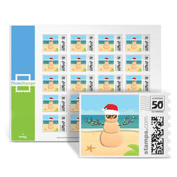 Sandy Snowman PhotoStamps