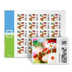 Snowman Greetings PhotoStamps