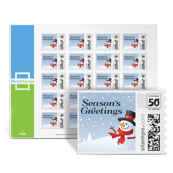 Snowman Hugs PhotoStamps