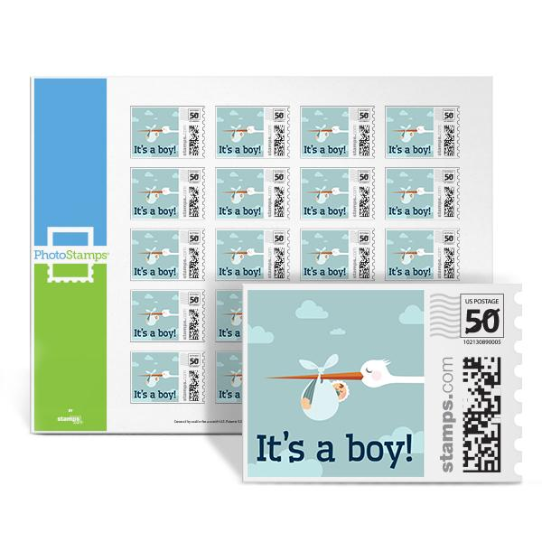 Stork - It's a Boy PhotoStamps