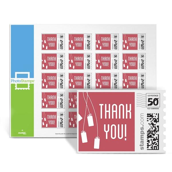Thank You - Pink PhotoStamps