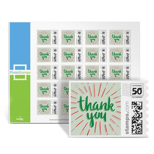 Thank You Pop Green PhotoStamps