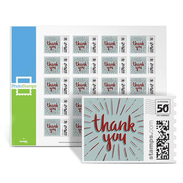 Thank You Pop Red PhotoStamps