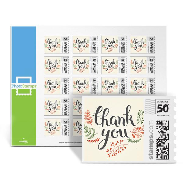 Thank You Wreath Red PhotoStamps