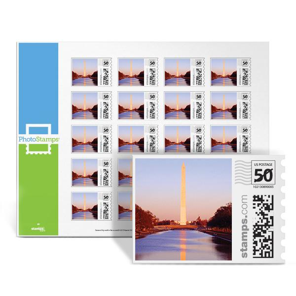 Washington Monument PhotoStamps