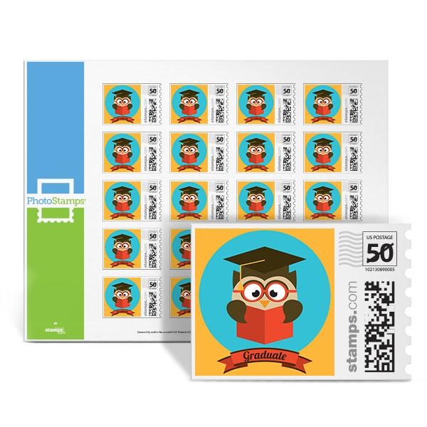 Wise Owl Grad PhotoStamps