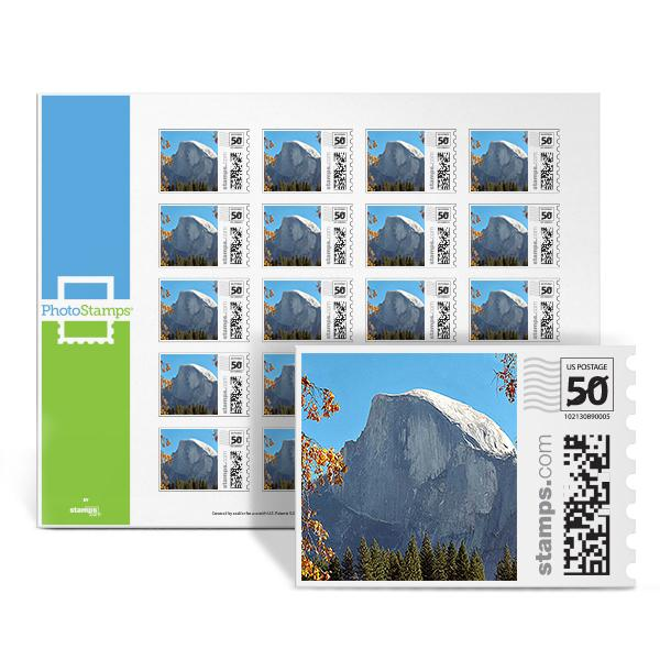Yosemite Half Dome PhotoStamps