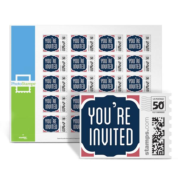 You're Invited - Blue PhotoStamps