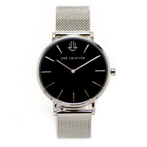 Uhr Leiwand | Modell Josefstadt | Silver Mesh