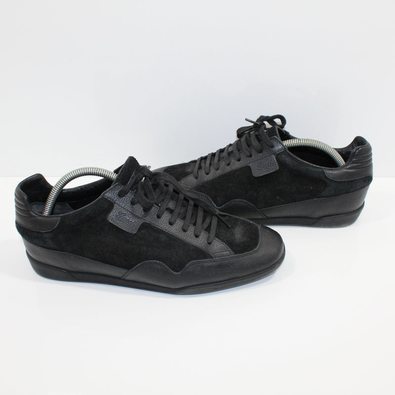 56317d66f5c Gucci Black Leather   Suede Trainers – reboined
