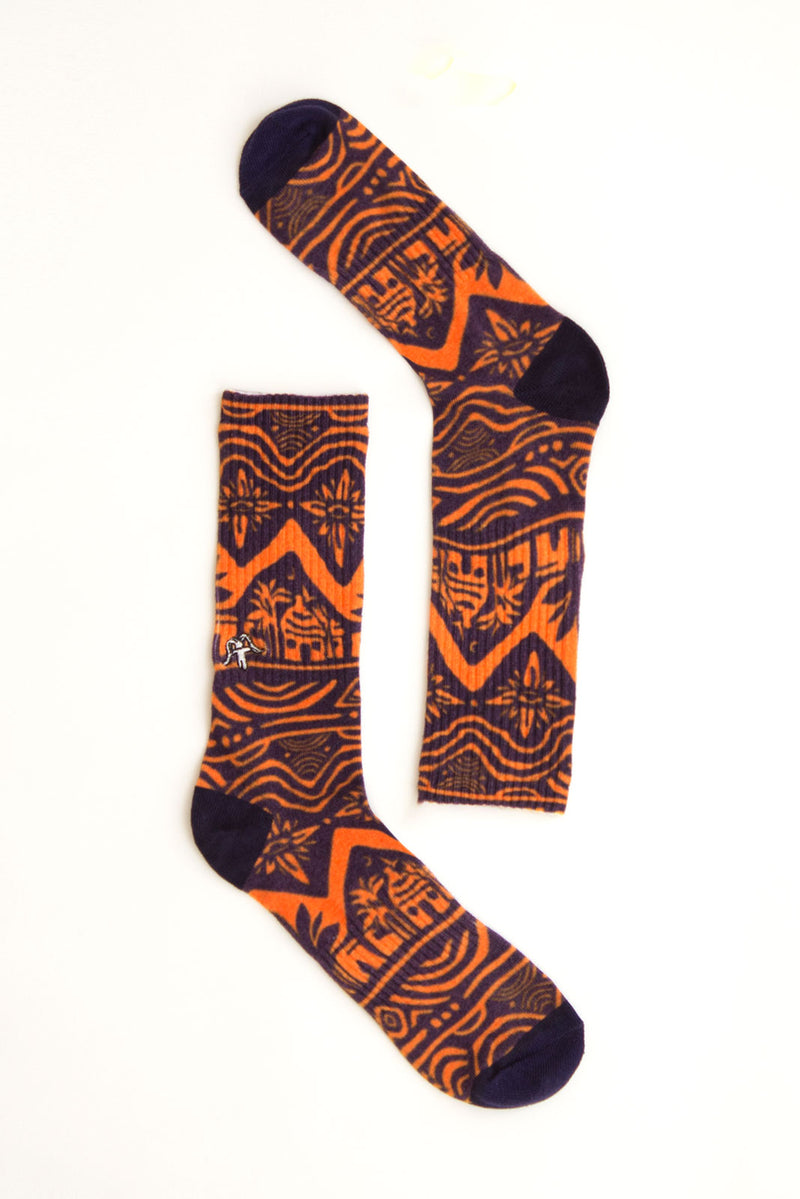 SOCKS REBEL ORANGE ALL