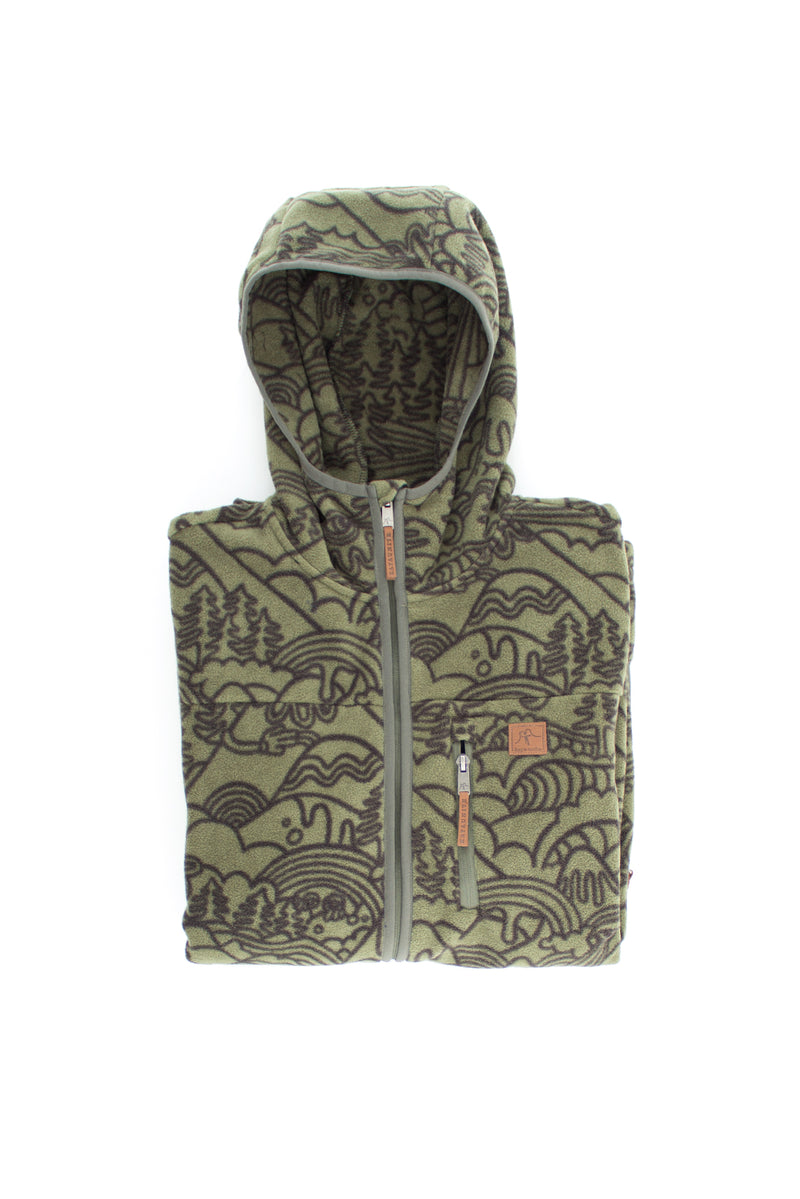FLEECE FLEECE HOOD GREEN