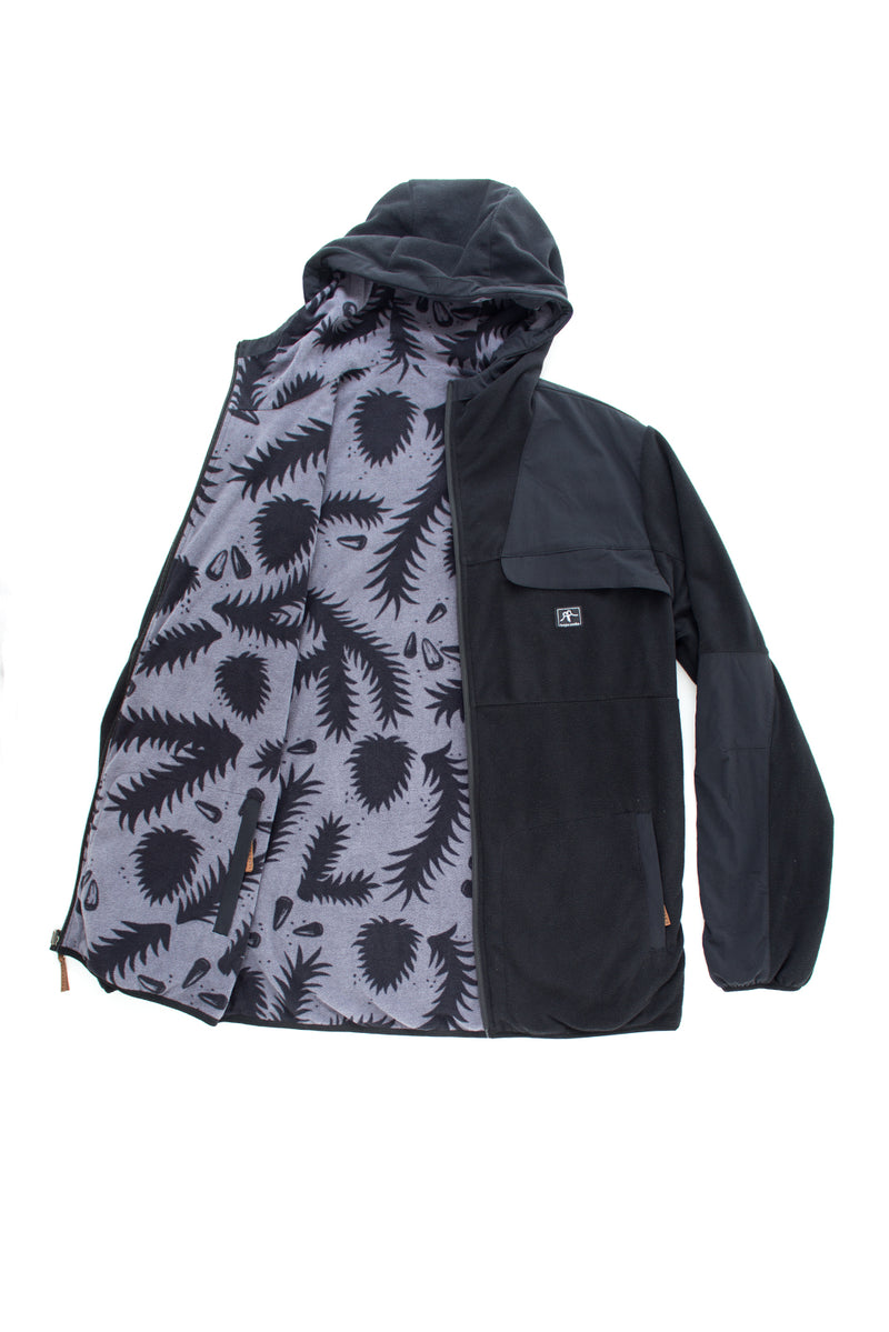 POLAR REVERSIBLE BONDED FLEECE BLACK