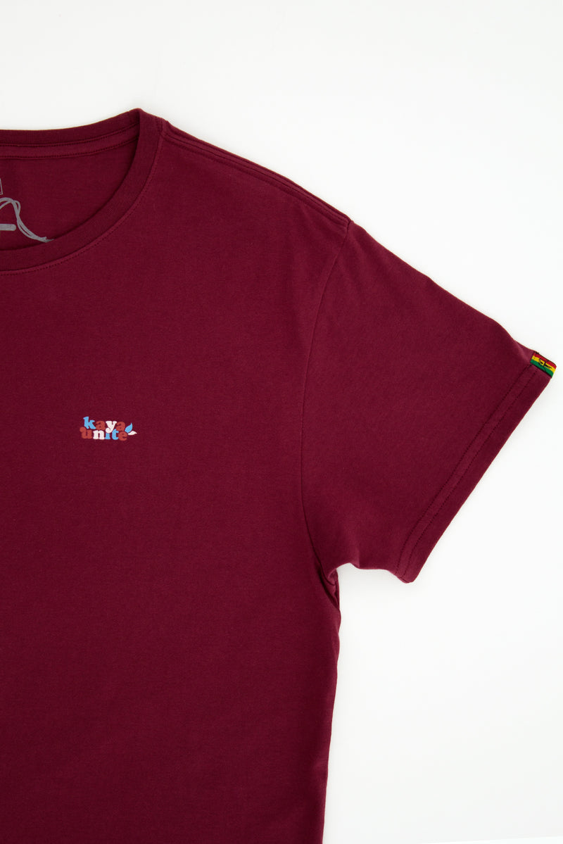 TSHIRT MINI LOGO BURGUNDY