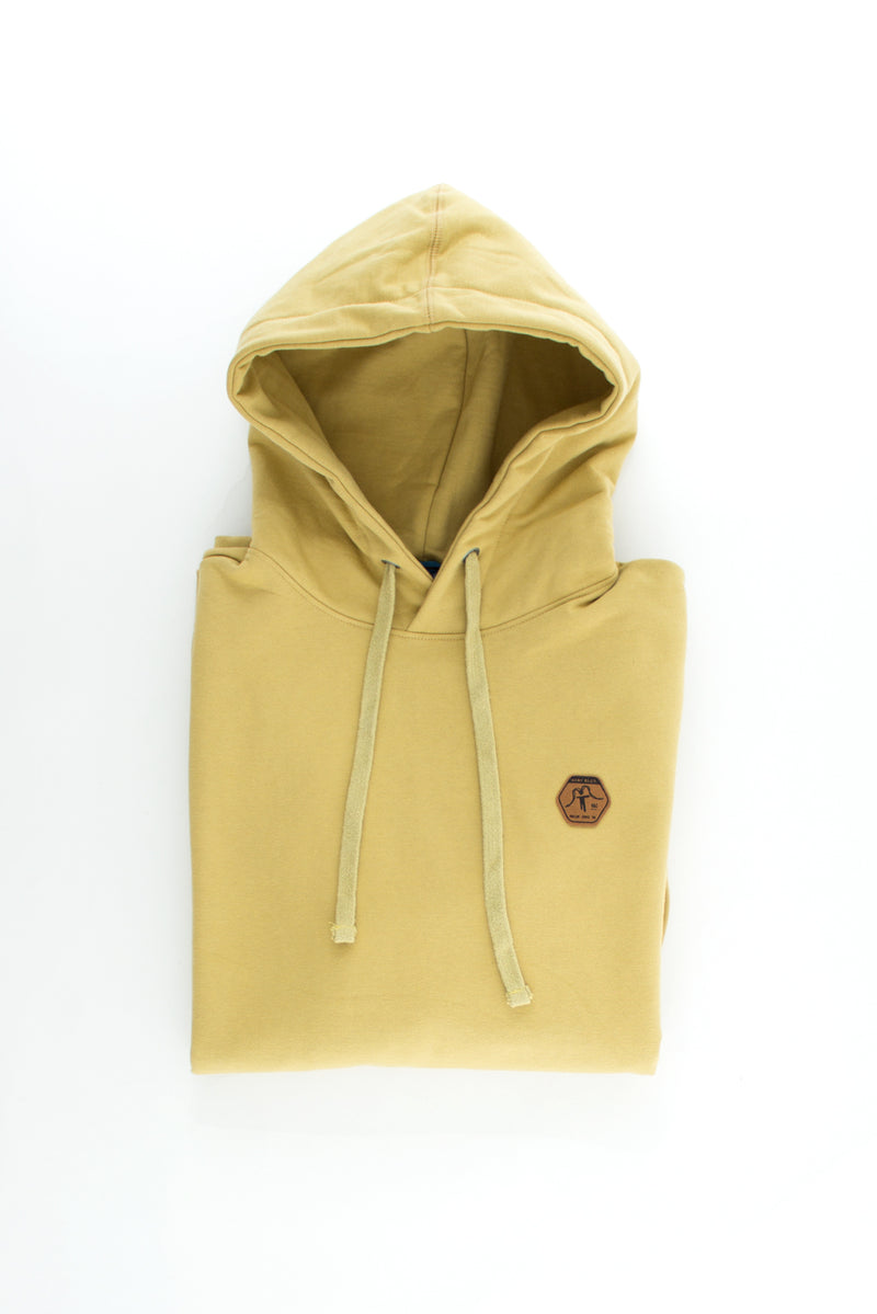 HOODIE SUEDE PULLOVER CAMEL