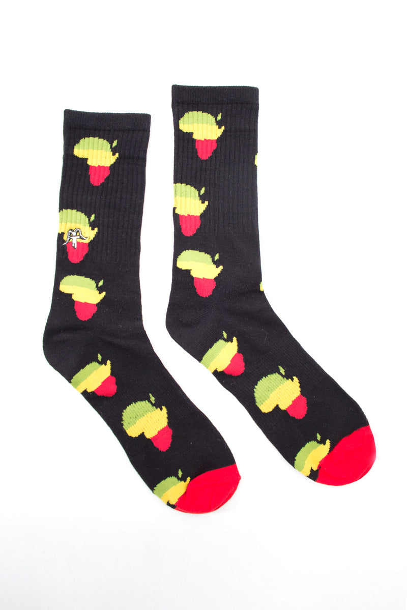SOCKS AFRICA BLACK ALL
