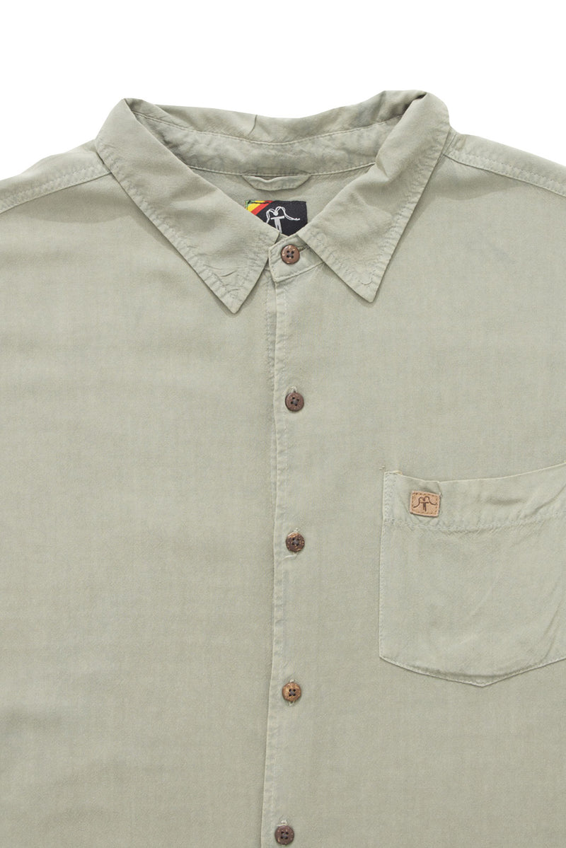 Shirt Viscose Solid Sage